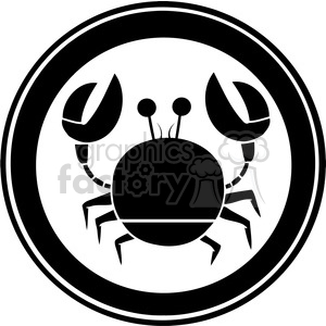 Black-Circle-Crab-Logo clipart. Commercial use image # 386551