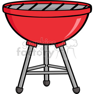 Royalty-Free-RF-Clipart-Red-Barbecue clipart. Royalty-free image # 386571