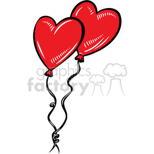 red heart balloons clipart. Commercial use image # 386640