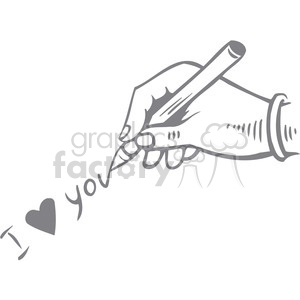 hand writing I love you clipart. Royalty-free image # 386670