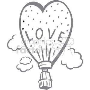 hot air balloon of love clipart. Commercial use image # 386690