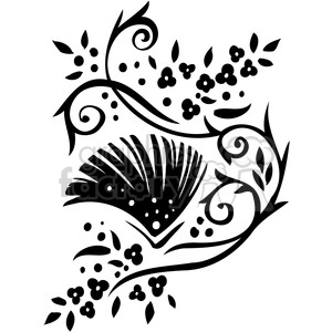 Chinese swirl floral design 015 clipart. Commercial use image # 386748