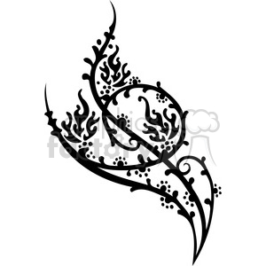 Chinese swirl floral design clipart. Commercial use image # 386758