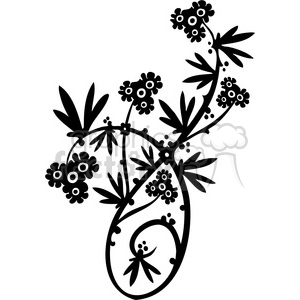 Chinese swirl floral design 069 clipart. Commercial use image # 386798