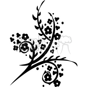 Chinese swirl floral design 016 clipart. Commercial use image # 386808