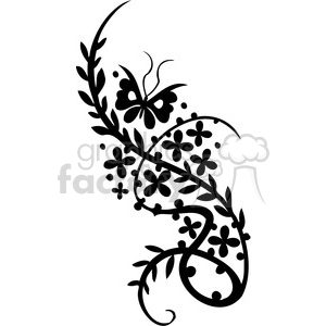 Chinese swirl floral design 066 clipart. Commercial use image # 386818