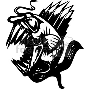 wild piranha tattoo design clipart. Royalty-free image # 387119