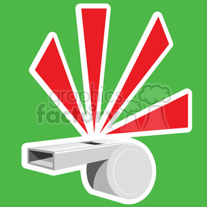 whistle blowing on green background clipart. Commercial use image # 387149