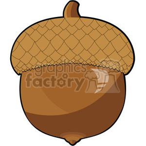 clip art acorn vector illustration 001