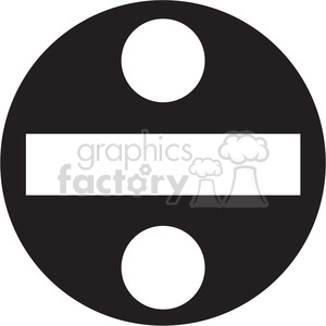 black circle division sign clipart