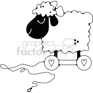 Pull Toy Sheep 1 clipart. Royalty-free image # 387229