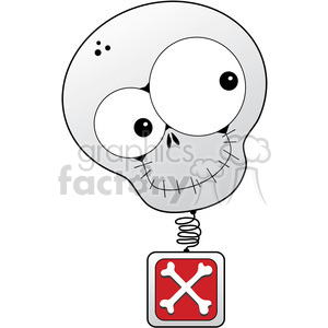 Skull BobbleHead in color clipart. Royalty-free image # 387259