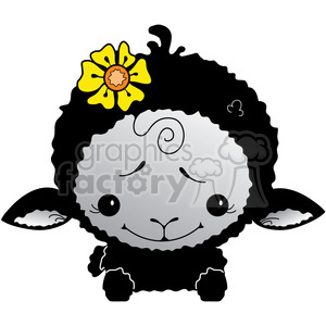 Sheep Black 3 in color clipart. Royalty-free image # 387289