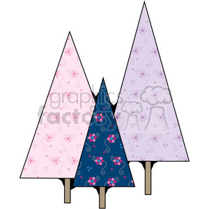 Christmas Trees 6 clipart. Royalty-free image # 387326