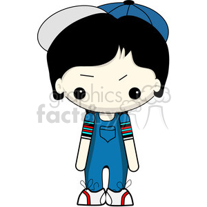 boy in blue overalls clipart. Royalty-free image # 387338