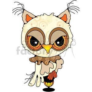 Owl Side View Colored clipart. Royalty-free image # 387399