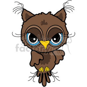 Owl Front View in color clipart. Royalty-free image # 387480