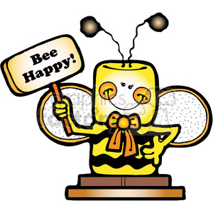 SMORE Bee Happy COL clipart. Royalty-free image # 387498