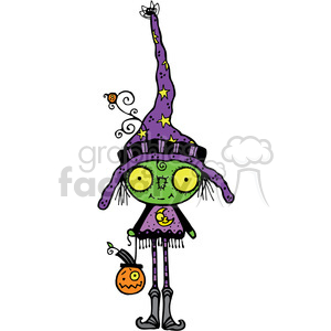 Bug Eyed Witch in color clipart. Commercial use image # 387528
