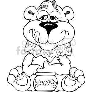 Bear Bobblehead Front View clipart. Commercial use image # 387580