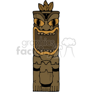 Tiki 01 in color clipart. Commercial use image # 387600