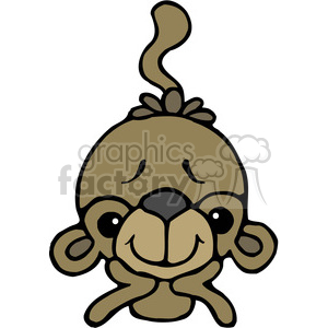 Monkey On Elbows in color clipart. Commercial use image # 387619