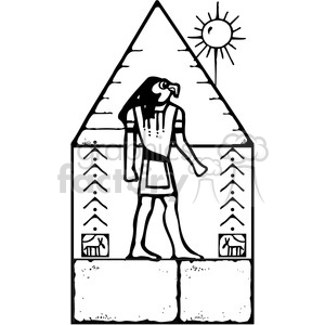 Pyramid Hyroglyphics clipart. Royalty-free image # 387639