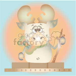 Smore Moose Sunset Sq clipart. Royalty-free image # 387668
