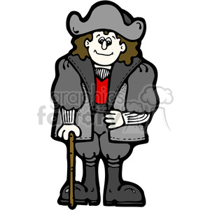 Christopher Columbus in color clipart. Commercial use image # 387678