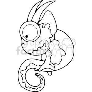 Chameleon Sitting clipart. Royalty-free image # 387728