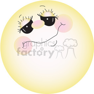 Full Moon or Sun clipart. Royalty-free image # 387737