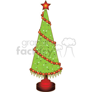 Christmas Tree Cone 02 clipart clipart. Royalty-free image # 388000