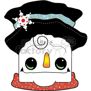 Snowman-Head clipart. Commercial use image # 388039