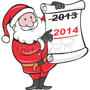 santawithlist 2014 clipart. Commercial use image # 388094