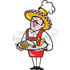 chef mexican plate tacos clipart. Royalty-free image # 388164