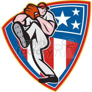 pitcher throw leg up SHIELD clipart. Royalty-free image # 388214