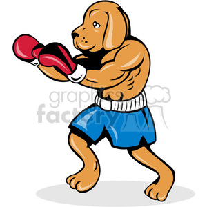 dog boxer side clipart. Commercial use image # 388264