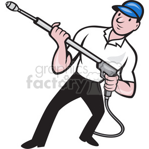 guy with a pressure washer clipart. Royalty-free image # 388284