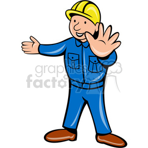 builder with hands out stop clipart. Royalty-free image # 388364