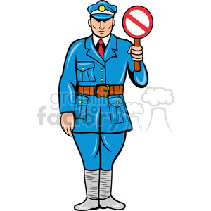 cartoon law officer cop cops stop traffic man guy working