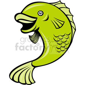 cartoon fish clipart. Commercial use image # 388432