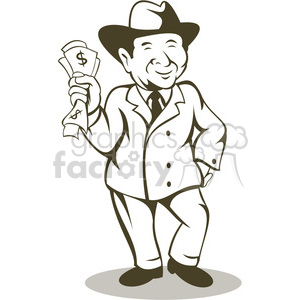 cartoon rich money lawyer private+investigator law business cash salesman paid used+car+salesman employee cop police undercover john man holding sugar+daddy