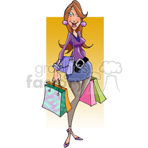 female shopper clipart. Commercial use image # 388502