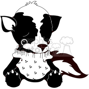 Stuffed Skunk clipart. Royalty-free image # 388552