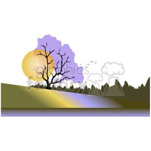 Moonlit Scene 01 clipart. Commercial use image # 388572
