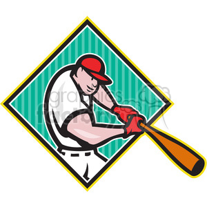 baseball player batting clipart. Commercial use image # 388642
