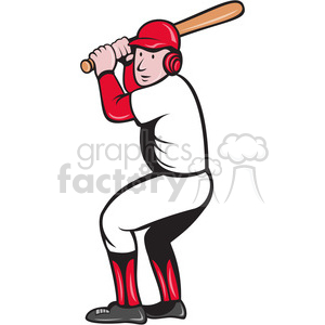 baseball batter getting ready clipart. Commercial use image # 388652