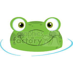 5656 Royalty Free Clip Art Cute Frog Logo Smiling From Water clipart. Royalty-free image # 388744