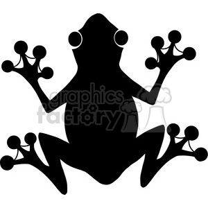 5637 Royalty Free Clip Art Black Frog Silhouette Logo clipart. Commercial use image # 388823