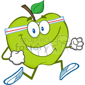 5784 Royalty Free Clip Art Healthy Green Apple Jogging clipart. Royalty-free image # 388884